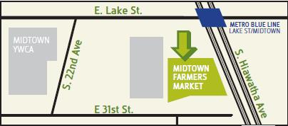 Midtown Farmers Market 2015 Map