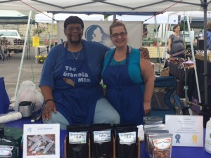 Nehemiah Williams and market assistant, Mary Ellen Weber